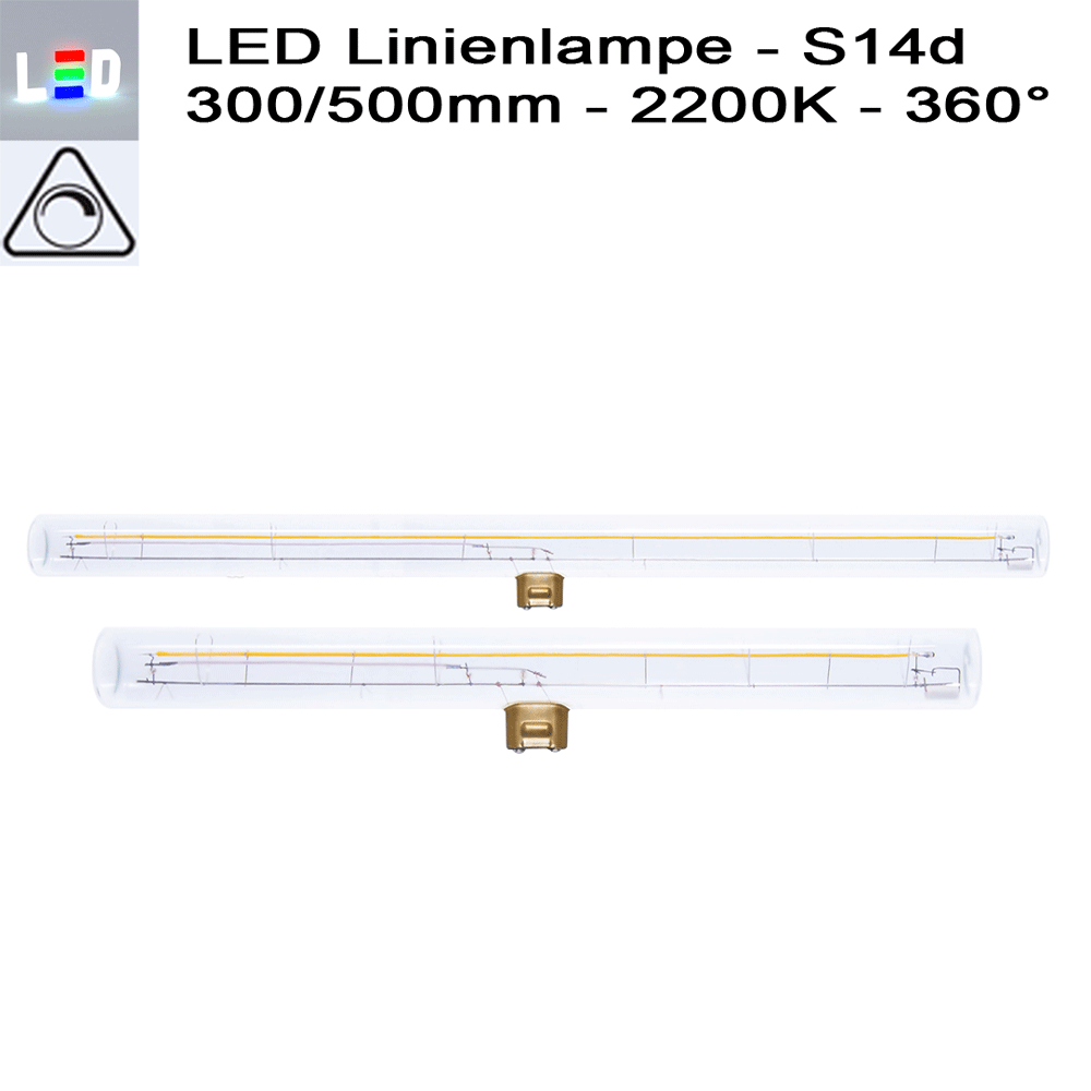 LED Linestra Line Lamp S14d Abstrahlwinkel Beam Angle 360 Grad degree