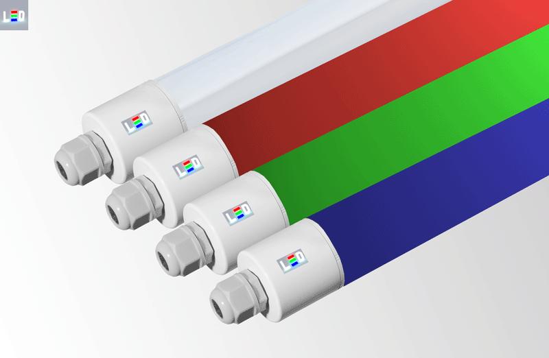 LED Rohrleuchten tubola in weiss Farbe einstellbar sowie rot, grün, blau