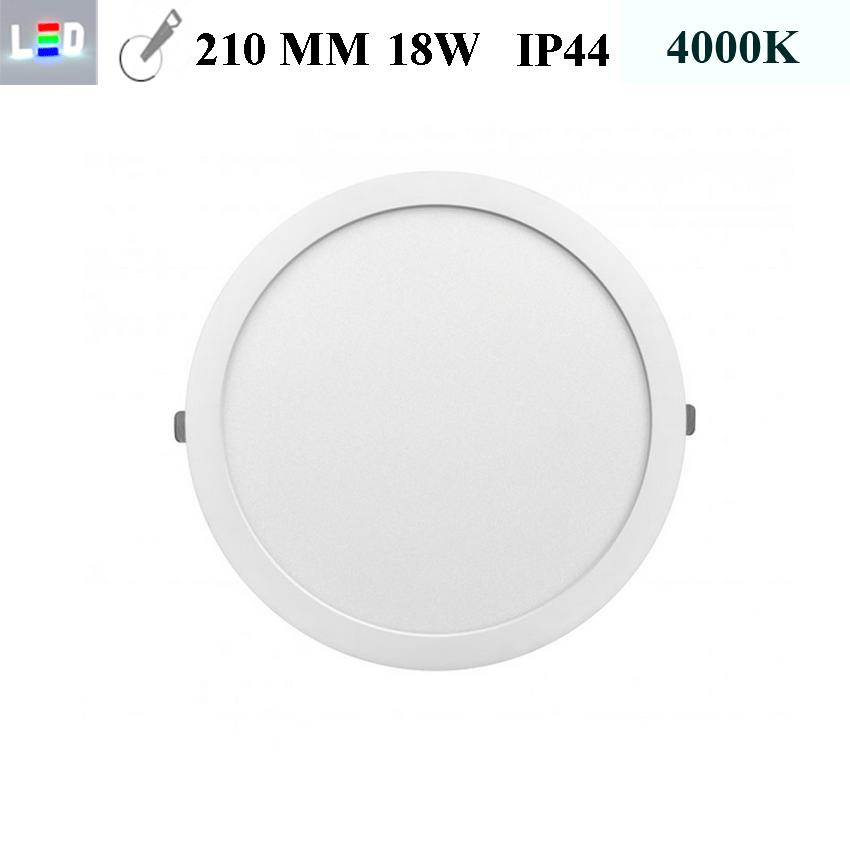 LED Einbauleuchte rund • 18W • EinbauØ 210mm • AußenØ 225mm • Einbauhöhe 12mm • 230V/AC - 18W • 4000K • 1440lm • IP44 • 120° • dimmbar • incl. Trafo (LED Downlights)