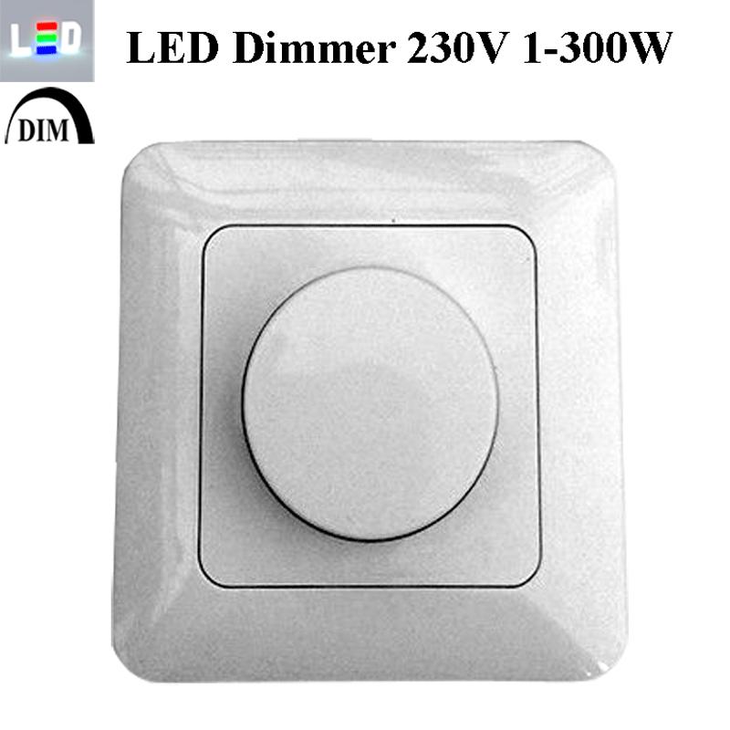 Drehdimmer für LED - 1-300W - 230V
