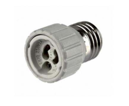 Adapter - Lampenfassung E27 auf GU10 Sockel