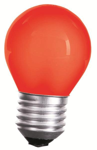 LED Lampe • E27 • 230V/AC • 1,0W (1W=10W) • 20lm • rot • 270° • 45x70mm •
