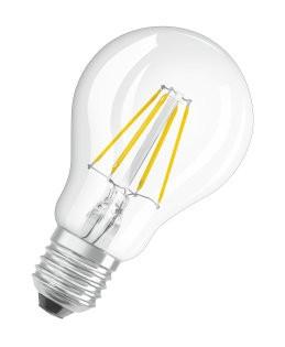 LED Filament-Lampe OSRAM E27 PCLA40 4W (40Watt) / 827 warmweiss - 220-240V/AC • E27 • 220-240V