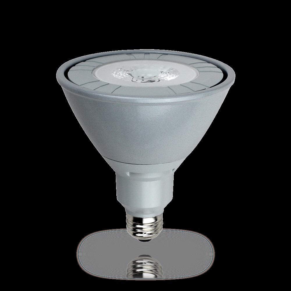 LED Strahler PAR38 230V/AC E27 • 35° • 22W (22W = 120W) • 1700lm • warmweiss 827 • 2700K • L145mm • D125mm • dimmbar