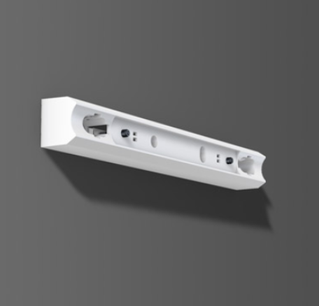 Fassung/Lichtleiste für Linienlampen mit Druckschalter Sockel S14s - 30cm Länge - Farbe weiss - Abb. ähnlich