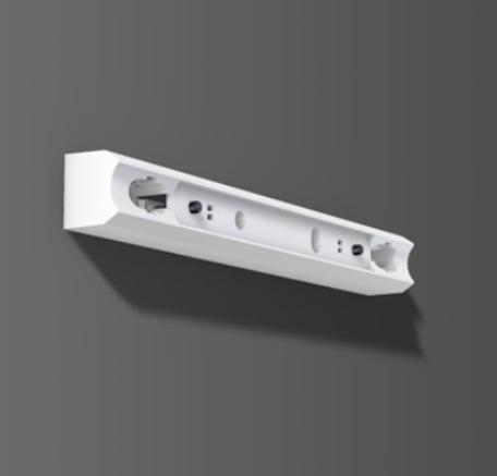 Fassung/Lichtleiste für Linienlampen mit Druckschalter Sockel S14s - 50cm Länge - Farbe weiss - Abb. ähnlich