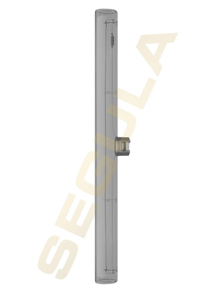 LED S14d L=300mm - Linienlampe aus Klarglas rauchgrau • 360° • 8W/822• (8W=10W) • 2200K superwarmweiss • 100lm • 220-240V/AC/50-60Hz • dimmbar ja