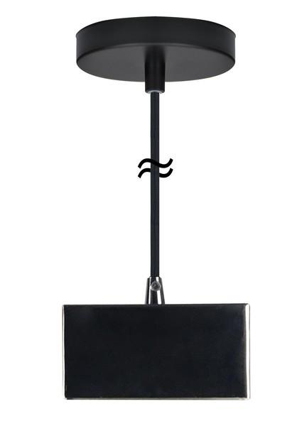 Pendelfassung Sockel S14d schwarz glänzend  für Linienlampe 230V/AC • Fassung Material Stahl  • L11xB4xH6cm Kabellänge • 2 Meter