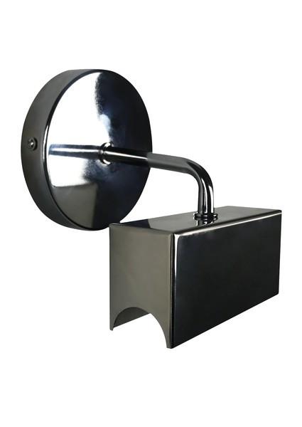 Wandfassung Sockel S14d schwarz glänzend  für Linienlampe 230V/AC • Fassung Material Stahl  • L11xB4xH6cm (Fassung)