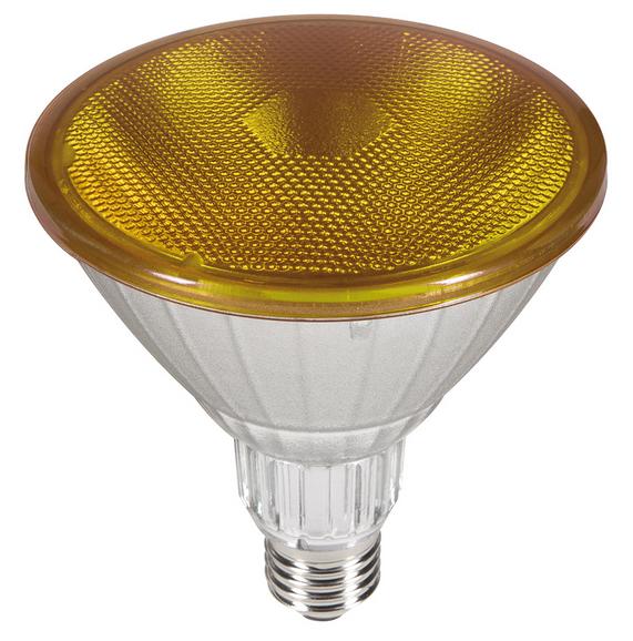 Outdoor LED Strahler GELB PAR38 230V/AC E27 IP65 40° (18W =120W) • 1100lm  L130,0mm • D123,0mm