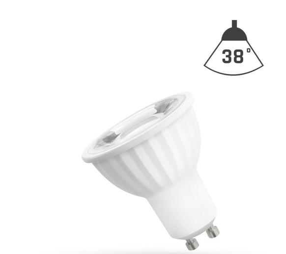 LED Strahler GU10 4W 230V/AC 50Hz (4,0W = 35W) 4000K neutralweiss • 390lm • 38° Grad Abstrahlwinkel