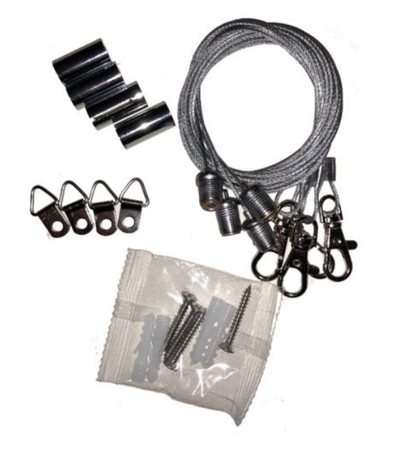 Detail - Universal LED Panel Abhänge-SET max. Abhängung 1 Meter