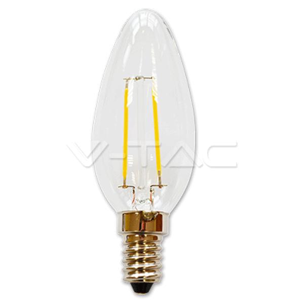 LED Glühfadenlampe - 2 Watt - 230V/AC - Fassung E14
