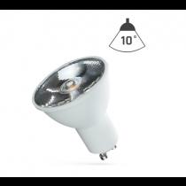 LED Strahler GU10 6W 230V/AC 50Hz (6,0W = 45W) 3000K warmweiss • 400lm • 10° Grad Abstrahlwinkel
