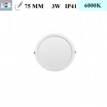 LED Einbauleuchte rund • 3W • EinbauØ 75mm • AußenØ 85mm • Einbauhöhe 12mm • 230V/AC - 3W • 6000K • 225lm • IP41 • 120° • dimmbar • incl. Trafo