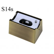 Fassung/Sockel für Linienlampen wie Linestra S14s - Messing gebuerstet matt