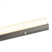 Fassung/Lichtleiste für Linienlampen mit 2x S14s Sockel - 30cm Länge - Farbe silber