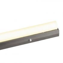 Fassung/Lichtleiste für Linienlampen mit 2x S14s Sockel - 50cm Länge - Farbe silber