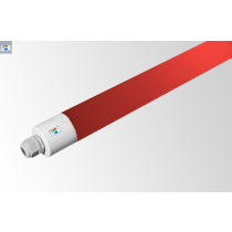 LED Rohrleuchte IP65 • 30W • rot • 1500mm • Ø 48,5mm • 220-240V AC/DC-50/60Hz