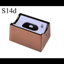 Fassung/Sockel für Linienlampen wie Linestra S14d - Bronze/Kupfer