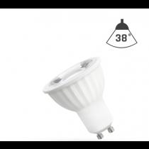 LED Strahler GU10 4W 230V/AC 50Hz (4,0W = 35W) 3000K warmweiss • 360lm • 38° Grad Abstrahlwinkel
