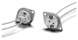 Lampen-Fassung zum Anschrauben für Leuchtmittel mit Sockel G4/GZ4 - G5.3/GX5.3 - G6.35/GY6.35 mit Durchgangslöcher für Schrauben M3