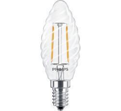 LED Filament Kerzenlampe geriffelt • Philips • E14 • 230V/AC • 2,0W (2W=25W) • 250lm • 2700K