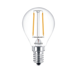 LED Filament Lampe Philips • E14 • 220-240V/AC/50Hz • 2,0W (2,0W = 25W), 250lm • 2700K warmweiss (extra warm)