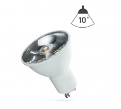 LED Strahler GU10 6W 230V/AC 50Hz (6,0W = 45W) 4000K neutralweiss • 430lm • 10° Grad Abstrahlwinkel