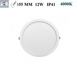 LED Einbauleuchte rund • 12W • EinbauØ 155mm • AußenØ 170mm • Einbauhöhe 12mm • 230V/AC - 12W • 4000K • 900lm • IP41 • 120° • dimmbar • incl. Trafo (LED Downlights)