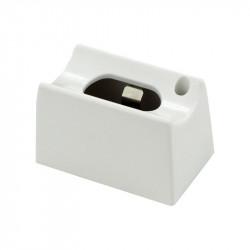 Fassung weiss für Linienlampen Sockel S14d - passen für auch für OSRAM 670 Linestra und Philips Philinea - Ansicht C