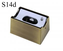 Fassung/Sockel für Linienlampen wie Linestra S14d - Messing gebuerstet matt