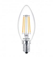 LED Lampe Filament Philips • E14 • 230V/AC • 4,0W (4W=40W) • 470lm • 2700K