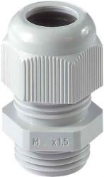 Polyamid Kabelverschraubung M20x1,5 - IP68 - für Kabeldurchmesser 8-13mm - Farbe RAL7035 lichtgrau