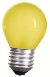 LED Lampe • E27 • 230V/AC • 1,0W (1W=10W) • 20lm • gelb • 270° • 45x70mm •