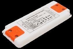 Trafo elektronisch (extrem flach) für LED P100-240V/AC - S12V/DC • 1-15W / nicht dimmbar  • Abm. L128mmxB50mmxH12mm