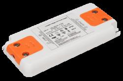 Trafo (extrem flach) elektronisch für LED P100-240V/AC - S12V/DC • 1-6W / nicht dimmbar  • Abm. L99mmxB46mmxH12mm