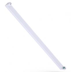LED Lichtleiste / Fassung für Röhren T8 (nur LED) 450mm (438) Länge • Farbe weiss • IP20