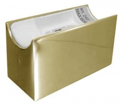Fassung/Sockel für Linienlampen wie Linestra S14d Gold-Messing-glänzend - Ansicht 1