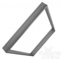 Aufbaurahmen für LED Panel 600x600mm silber