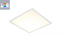 LED Panel 600x600mm Rahmenfarbe silber - für Kassettendecke, Odenwald Decke, Büro und Verwaltungen