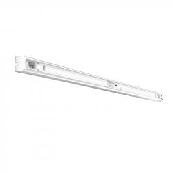 Fassung/Lichtleiste für Linienlampen mit 2x S14s Sockel - 100cm Länge - Farbe weiss