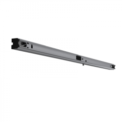 Fassung/Lichtleiste für Linienlampen mit 2x S14s Sockel - 100cm Länge - Farbe alu eloxiert