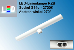 RZB Linienlampe S14d - 500mm warmweiss - Abstrahlwinkel 270 Grad