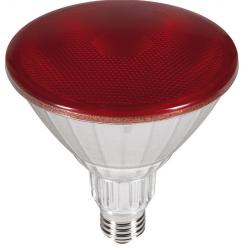 Outdoor LED Strahler ROT PAR38 230V/AC E27 IP65 40° (18W =120W) • 85lm  L130,0mm • D123,0mm