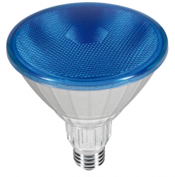 Outdoor LED Strahler BLAU PAR38 230V/AC E27 IP65 40° (18W =120W) • 85lm  L130,0mm • D123,0mm