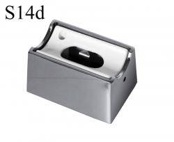 Fassung/Sockel für Linienlampen wie Linestra S14d - Chrom glänzend
