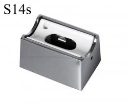 Fassung/Sockel für Linienlampen wie Linestra S14s - Chrom glänzend