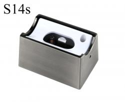 Fassung/Sockel für Linienlampen wie Linestra S14s - Chrom matt