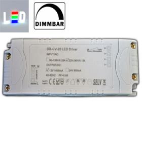 PB Trafo/Treiber für LED P230V/AC - S12V/DC 1600mA • 1-20W / dimmbar • (Breite/Höhe/Tiefe): 133 x 46 x 24mm